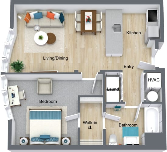 Floor Plan  one-newport-apartments