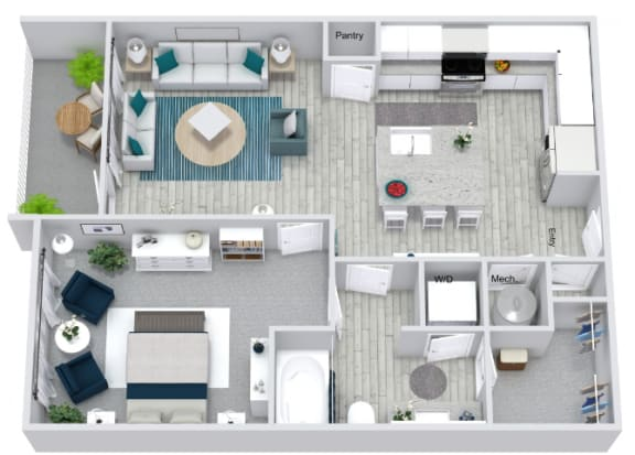 Floor Plan  A1 Floor Plan at Estero Parc, Estero, Florida