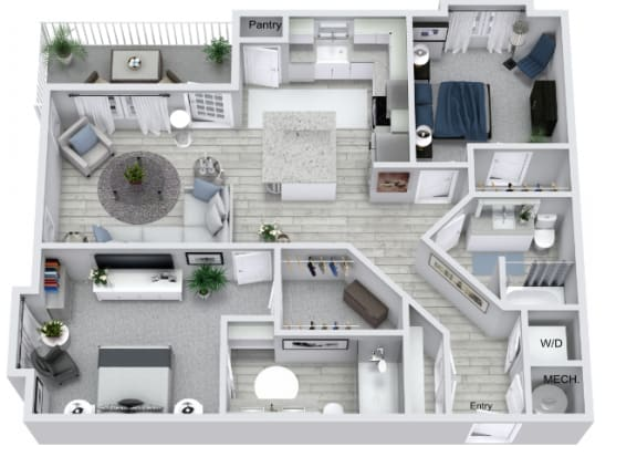 Floor Plan  B3 Floor Plan at Estero Parc, Estero, FL, 33928