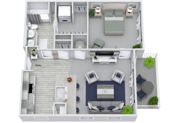 Floor Plan  A2 Floor Plan at The Columns on Main, Spring Hill