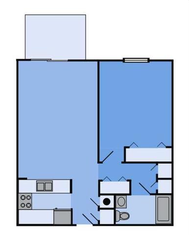 Floor Plan  THE CEDAR Floor Plan at Woodbridge Apartments, Louisville, KY