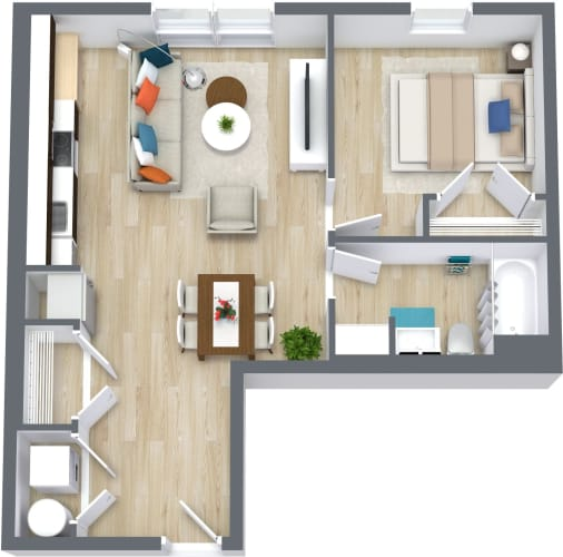 Floor Plan  1943-dot-ave-1bed