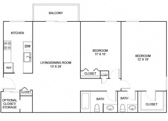 Floor Plan  douglas fir 2x1.5 905 SF