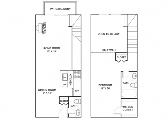 Floor Plan  eagle 1x1.5 780 sf