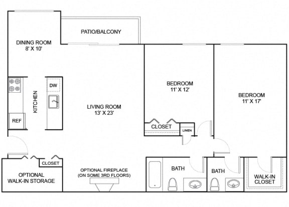 Floor Plan  Hickory 2X1_5 1067
