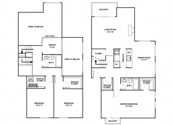 Floor Plan  Horizon 3X2 1698