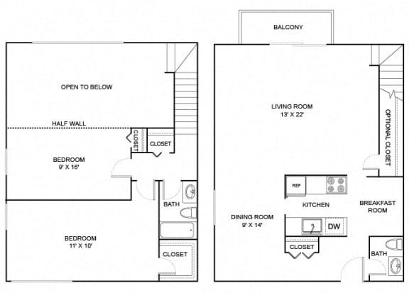 Floor Plan  Juniper 2X1_5 1183