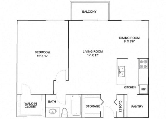 Floor Plan  Knightengale 1X1 783