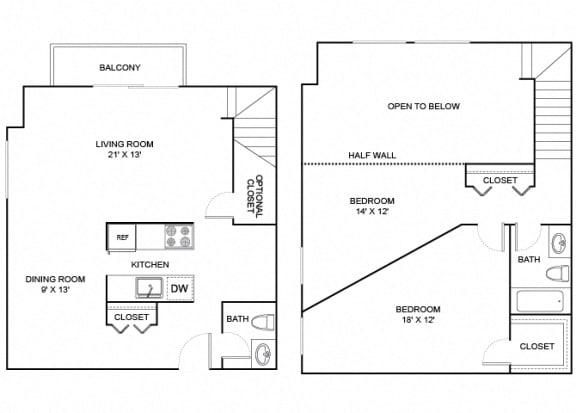 Floor Plan  Poplar 2X1_5 1193