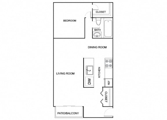 Floor Plan  Quail 1x1 732
