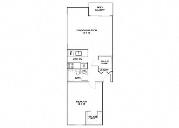 Floor Plan  Starling 1X1 791