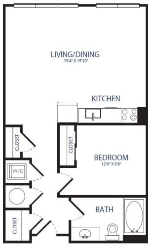 Floor Plan  Studio 1BA
