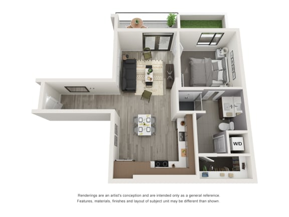 Floor Plan  4th and J A10