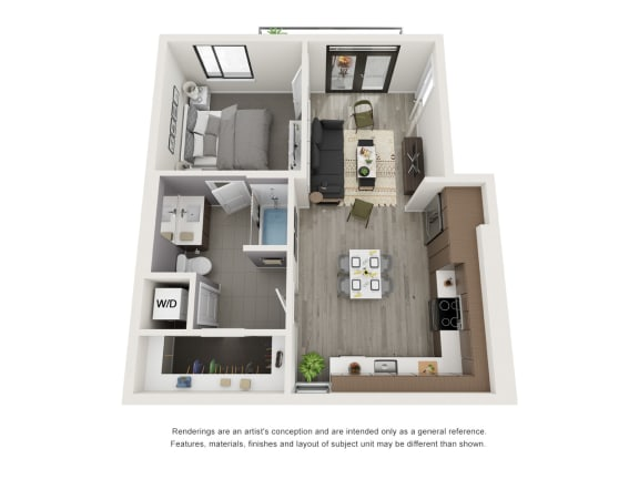 Floor Plan  4th and J A6