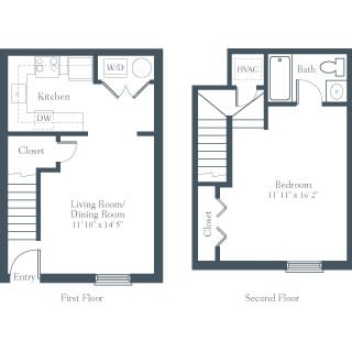 Floor Plan  1 Bedroom, 1 Bathroom