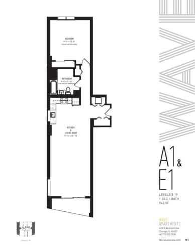 Floor Plan  A1 & E1