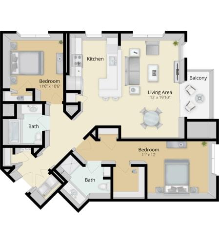 Floor Plan  Cirrus Floor Plan 2B