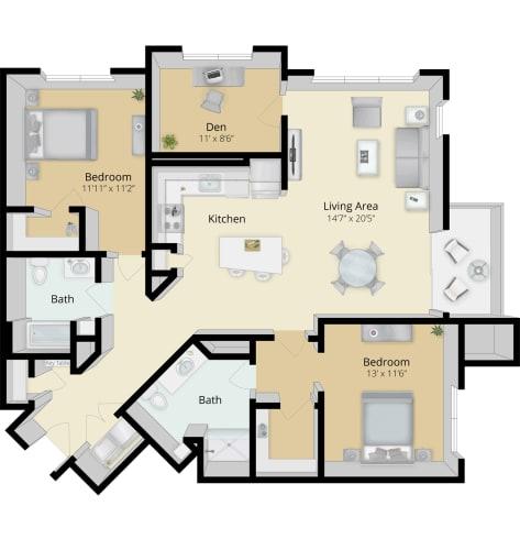 Floor Plan  Cirrus Floor Plan 2C