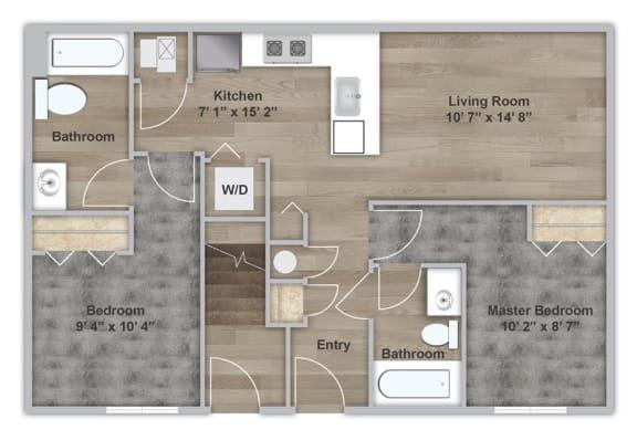 Floor Plan  Two Bedroom - First Floor