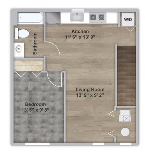Floor Plan  One Bedroom - Second Floor