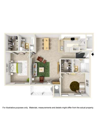 Floor Plan  2 Bedroom - Phase II
