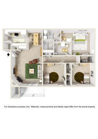 Floor Plan  3 Bedroom - Phase I