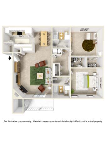 Floor Plan  2 Bedroom - Phase I