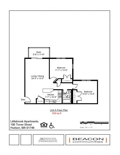 Floor Plan  2 bedroom apartment Hudson, MA