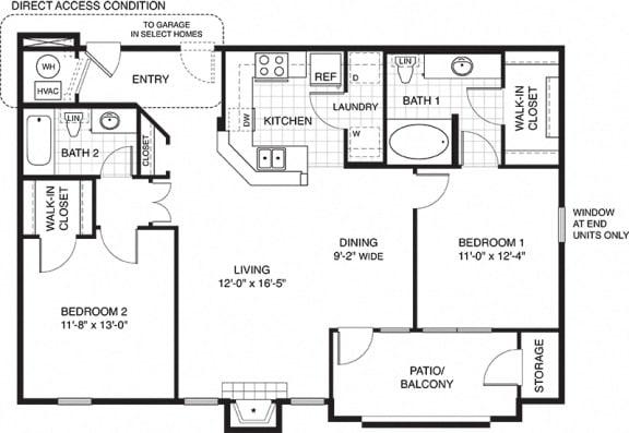 Floor Plan  Contemporary Style at Ovaltine Court in Villa Park