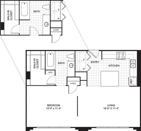 Floor Plan  Ovaltine Court Pet-Friendly Apartments for Rent