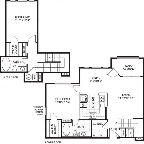 Floor Plan  Townhouse for rent at Ovaltine Court