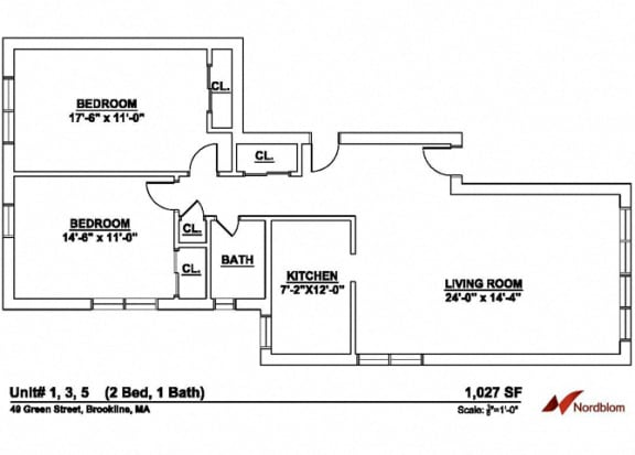 Floor Plan  Floor plan at Green Street, Massachusetts, 02446