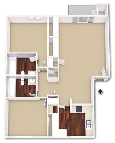 Floor Plan  The Gardenia