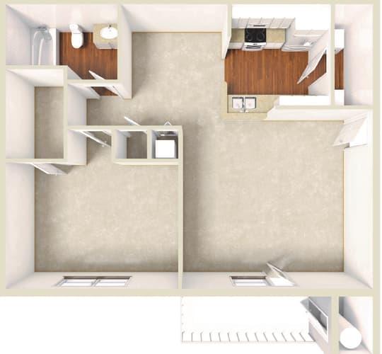 Floor Plan  Ivy - 1BD 1BTH LG