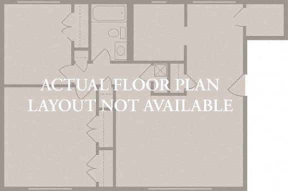 Floor Plan  1 Bedroom 1 Bath (2)