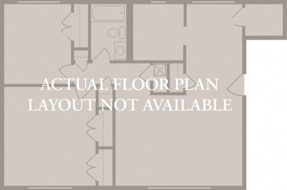 Floor Plan  2 Bedroom 1 Bath (2)