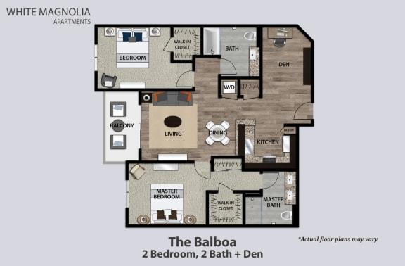 Floor Plan  The Balboa, 2+2+Den, opens a dialog.