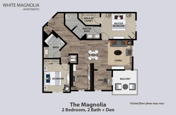 Floor Plan  The Magnolia, 2+2+Den, opens a dialog.