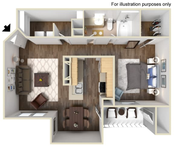 Floor Plan  The Tahoe Floor Plan at Manzanita Gate Apartment Homes, NV 89523