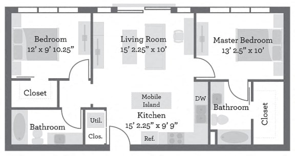 Floor Plan  THE GRANT - Preble