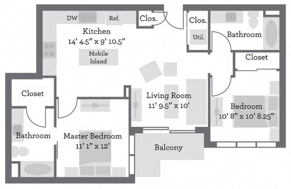 Floor Plan  THE GRANT - Butler