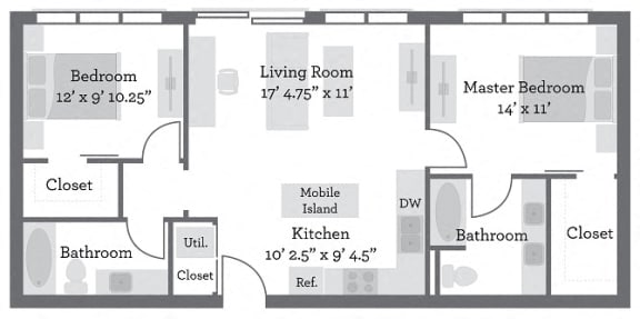 Floor Plan  THE FILLMORE - Gallatin