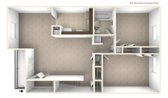 Floor Plan  Two Bedroom Apartment Floor Plan Williamsburg Estates Apartments