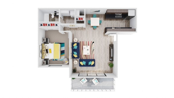 Floor Plan  98Hundred Apartments Sycamore Floor Plan