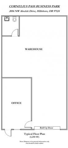 Floor Plan  Cornelius Pass Business Park 1250 Square Feet Floor Plan