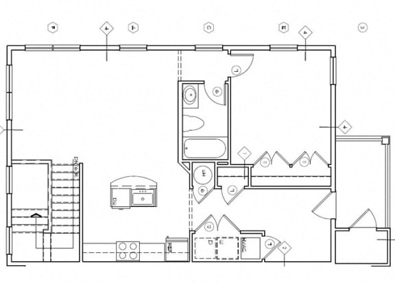 Floor Plan  Riverwoods at Denton Floor Plan- H