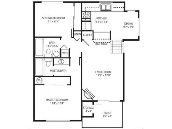 Floor Plan  2 Bedroom Flat/Down