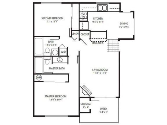 Floor Plan  2 Bedroom Flat/Up