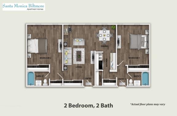 Floor Plan  Two Bedroom, opens a dialog.