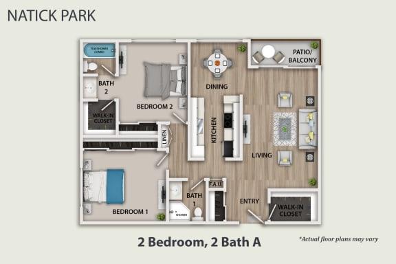 Floor Plan  2+2 Bathroom, opens a dialog.